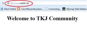 Cek di Browser
